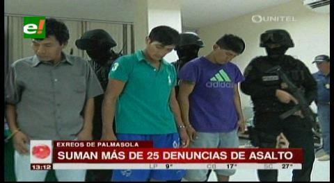Asaltantes de Las Cabañas tienen más de 25 denuncias por robo