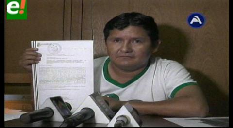 Asambleísta Muñoz denuncia a Rubén Costas por costrucción de carretera que llega a su hacienda