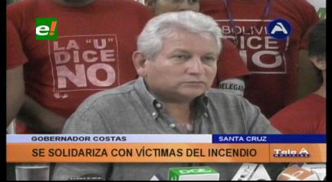 Costas consternado por lo sucedido en El Alto, se solidariza con las familias de las víctimas
