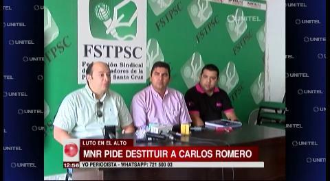 El MNR pide la destitución de Carlos Romero y Marcelo Elío