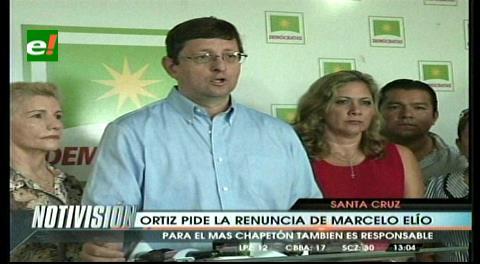 Bancada Demócrata exige destitución inmediata de viceministro Elío y pide a Evo que no lo proteja