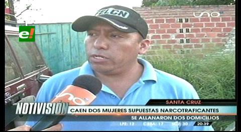 Detienen dos supuestas narcotráficantes y un mini-laboratorio de cocaína en Cotoca