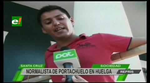 Normalistas instalan huelga de hambre indefinida por expulsión
