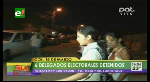 Aprehenden a delegadas electorales por abrir ánforas selladas