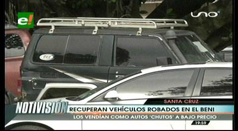 Diprove recupera en Beni dos vehículos robados en Santa Cruz