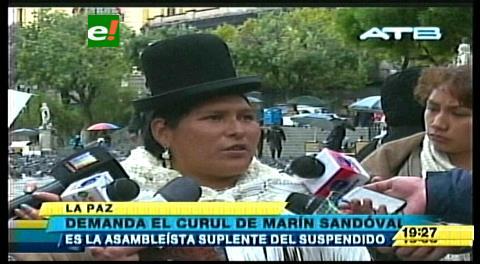 La Paz: La suplente de Sandoval pide ocupar su curul