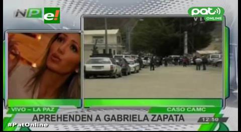 Gabriela Zapata estaría retenida en su vehículo afuera de la Felcc
