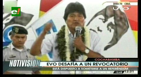 """Morales: """"Desafío públicamente que venga el revocatorio"""""""