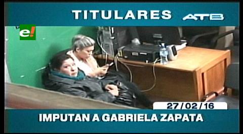 Titulares de TV: Imputan a Gabriela Zapata por enriquecimiento ilícito y uso indebido de influencias