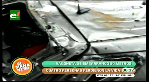 Cochabamba: Accidente enluta a una familia con 4 muertos y 5 heridos
