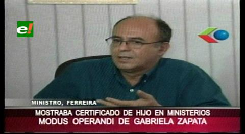 Hay ministros responsables por no avisar a Evo lo que hacia Gabriela Zapata: Reymi Ferreira