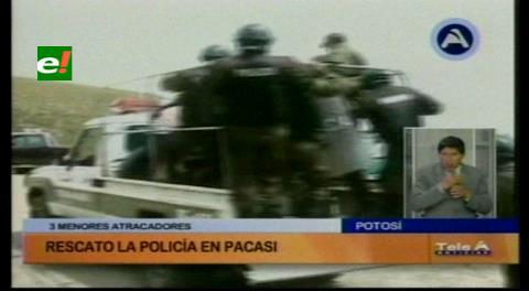 Potosí: Casi linchan a 3 menores por robar la casa de un anciano