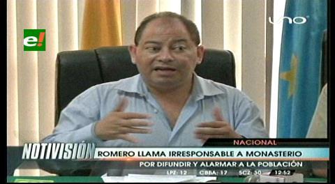 Ministro Romero llamó irresponsable al diputado Monasterio por alarmar a la población