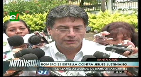 Romero descalifica a Jerjes Justiniano, abogado anuncia proceso contra el ministro