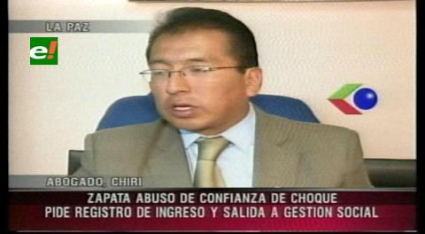 Abogado de Choque: Zapata cometió abuso de confianza