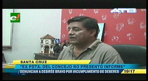 Concejal del MAS demanda a Desirée Bravo por incumplimiento de deberes