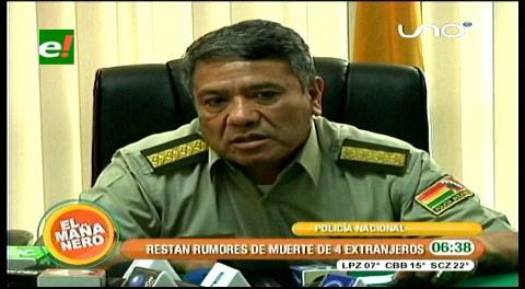 Comandante Téllez sobre muerte de extranjeros: La Policía no ejecuta, sino previene