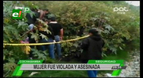 Cochabamba: Encuentran el cadáver de una mujer con signos de abuso sexual