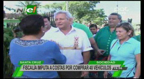 Fiscalía imputa al Gobernador Costas por la adquisición de 40 camionetas