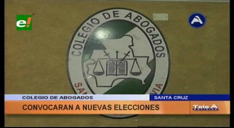 Santa Cruz: Colegio de Abogados pide nuevas elecciones para subsanar conflictos