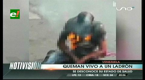 Barbarie en Venezuela: Vecinos quemaron vivo a un delincuente en Catia