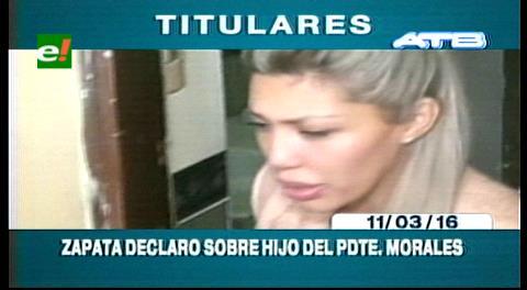 Titulares de TV: Gabriela Zapata declaró ante el juez del menor por el caso del hijo de Evo Morales
