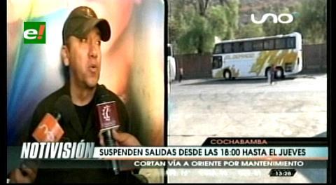 Anuncian cierre de la carretera Cochabamba-Santa Cruz de martes a jueves