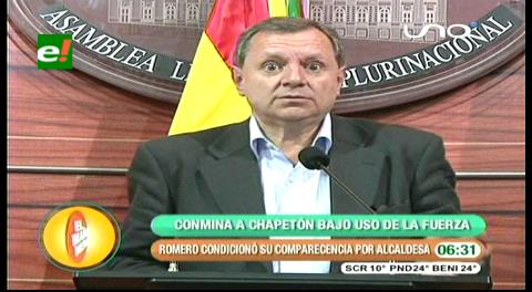 Quema de la Alcadía de El Alto: Senador Gonzáles conmina a Chapetón a presentarse ante la ALP