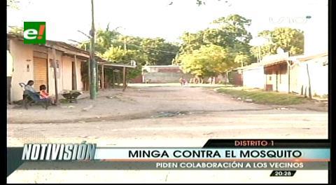 Santa Cruz: Minga contra el mosquito Aedes aegypti en el Distrito Municipal 1