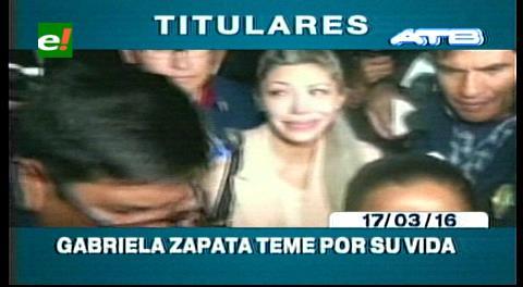 Titulares de TV: Gabriela Zapata teme por su vida y la de sus hijos, envió una carta a la ONU