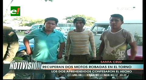 Diprove recupera motos robadas en El Torno, hay dos detenidos
