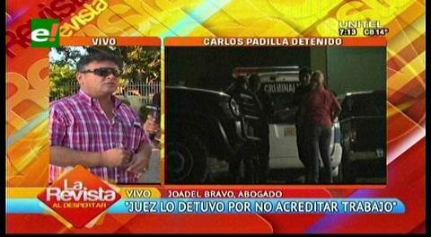 Caso dron: Detuvieron a Padilla por no acreditar trabajo y domicilio fijo