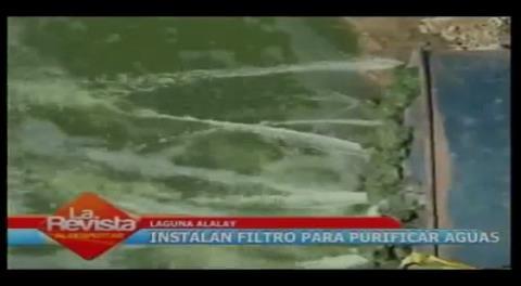 Instalarán purificadores gigantes en Laguna Alalay