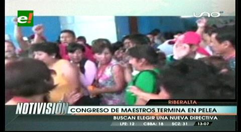 Denuncian irregularidades en Congreso de Maestros en Riberalta