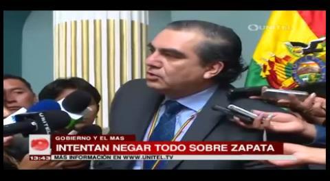 Caso Zapata: Hugo Siles asegura que lo que cuenta es lo que dice la Fiscalía