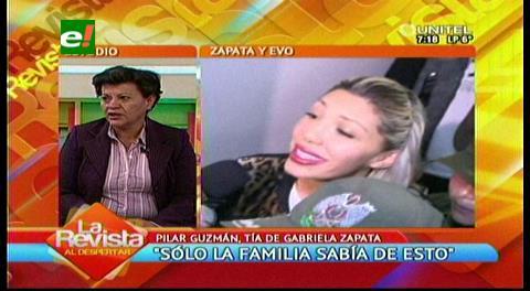 Tía reitera que Zapata era menor al iniciar relación con Evo Morales