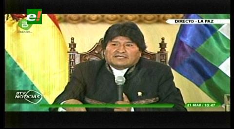 Evo no responde a periodista si enjuiciará a Quintana por el caso Zapata/CAMC