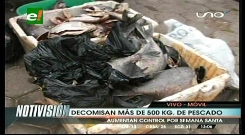 Decomisan más de 500 kilos de pescado en mal estado en un mercado de Santa Cruz