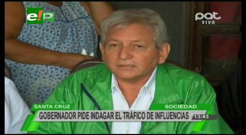 Rubén Costas pide centrarse en las denuncias por tráfico de influencias