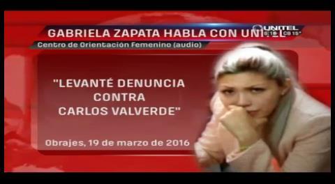 """Zapata: """"Terceras personas me obligaron a denunciar a Valverde"""""""
