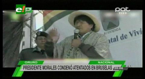 Evo Morales condena atentados de Bruselas