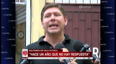 Diputado denuncia que el agua en San Ramón no es potable