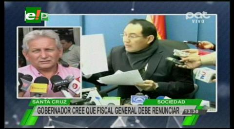 Rubén Costas pide que renuncie el Fiscal General