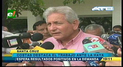 Costas pondera sensatez política del Gobierno para resolver la demanda marítima boliviana