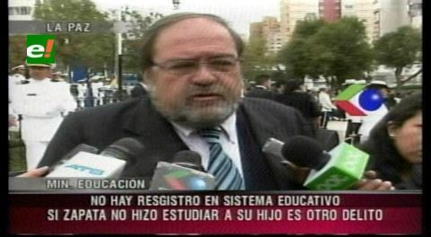 """Zapata podría ser procesada por """"negarle"""" la educación a su hijo"""