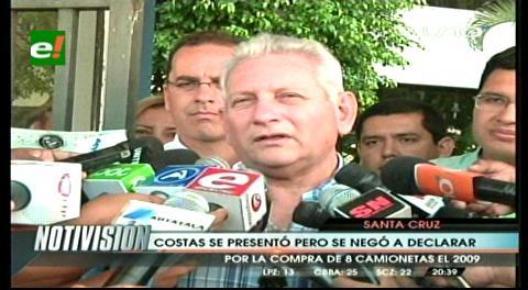 Rubén Costas se presenta ante Fiscalía por nuevo proceso en su contra