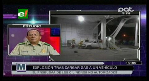 Tras explosión de un tanque de gas la Policía realizarán controles
