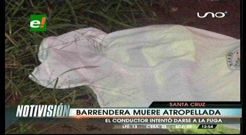 Barrendera muere atropellada, conductor intentó darse a la fuga