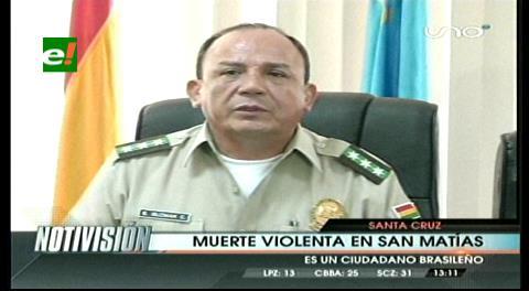 Santa Cruz. Nueva víctima por muerte violenta en San Matías
