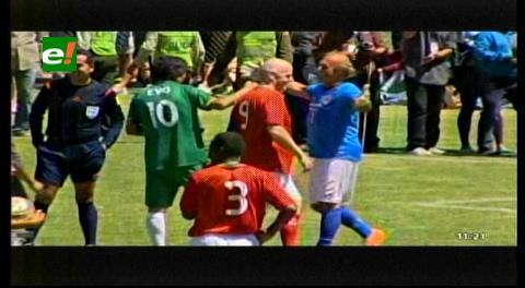 El equipo de Infantino se impone al de Evo Morales en partido amistoso